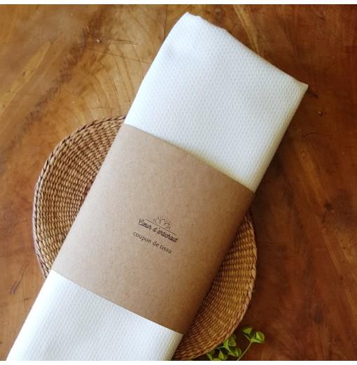 Coupon tissu – Piqué coton...